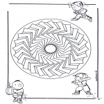 Mandala Coloring Pages - Children mandala 27