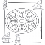 Mandala Coloring Pages - Children mandala 4