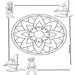 Mandala Coloring Pages - Children mandala 5