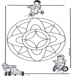 Mandala Coloring Pages - Children mandala 7