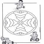 Mandala Coloring Pages - Children mandala 8