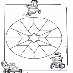 Mandala Coloring Pages - Children mandala 9
