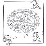Mandala Coloring Pages - Children/Geo Mandala