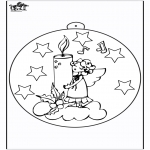Christmas coloring pages - Christmas ball Candle