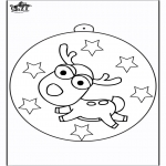 Christmas coloring pages -  Christmas ball Reindeer