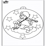 Christmas coloring pages - Christmas ball with angel 1