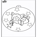 Christmas coloring pages - Christmas ball with angel 2