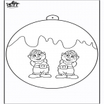 Christmas coloring pages - Christmas ball with Elf