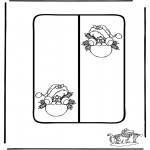 Christmas coloring pages - Christmas card 11