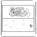 Christmas coloring pages - Christmas card 14