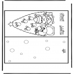 Christmas coloring pages - Christmas card 15