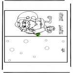 Christmas coloring pages - Christmas card 16