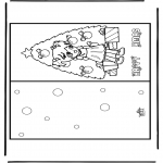 Christmas coloring pages - Christmas card 17