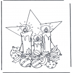 Christmas coloring pages - Christmas decoration 1