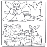 Christmas coloring pages - Christmas decoration 2