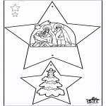 Christmas coloring pages - Christmas Decorations - Bible 1