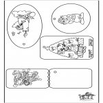 Christmas coloring pages - Christmas tags 2