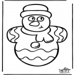Christmas coloring pages - Christmas windowcolor 1