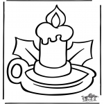 Christmas coloring pages - Christmas windowcolor 5