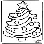 Christmas coloring pages - Christmas windowcolor 6