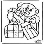 Christmas coloring pages - Christmas windowcolor 9