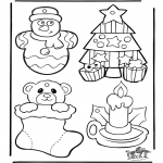 Christmas coloring pages - Christmasdecoration 1