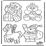 Christmas coloring pages - Christmasdecoration 2