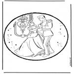 Crafts pricking cards - Cinderella 10