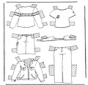 Cloth paper doll 2