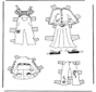Cloth paper doll 3