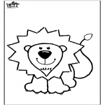 Animals coloring pages - Coloring page lion