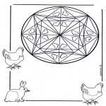 Mandala Coloring Pages - Coloring page mandala hearts