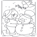 Winter coloring pages - Coloring page snow