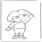 Kids coloring pages - Coloring pages Dora the Explorer