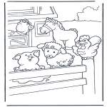 Animals coloring pages - Coloring pages farm