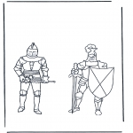 All sorts of - Coloring pages knights