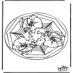 Mandala Coloring Pages - Coloring pages mandala angel
