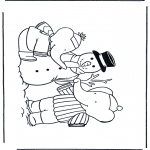 Winter coloring pages - Coloring pages Snowman 1