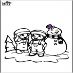 Winter coloring pages - Coloring pages Snowman 2