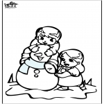 Winter coloring pages - Coloring pages Snowman 3