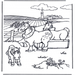 Animals coloring pages - Coloring picture horse