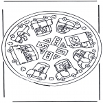 Mandala Coloring Pages - Coloring pictures mandala car