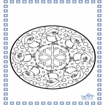 Crafts pricking cards - Coloring sheets Winter