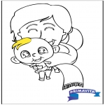Theme coloring pages - Coloringpage baby 2