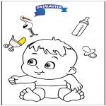 Theme coloring pages - Coloringpage baby 3