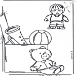 Kids coloring pages - Coloringpage toys 1