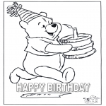 Theme coloring pages - Congratulations Winnie