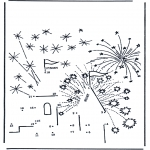 Crafts - Connect the Dots - firework
