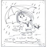 Crafts - Connect the Dots - umbrella