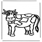 Animals coloring pages - Cow 1